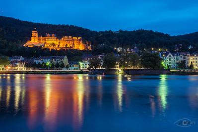 Heidelberg bei Nacht, Heidelberg, Baden-Württemberg, Deutschland