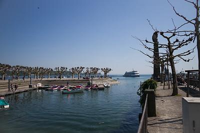 Konstanz, am Hafen, Bootsverleih