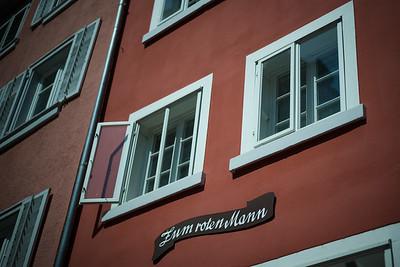 Konstanz, Zum roten Mann, Fenster, Fassade