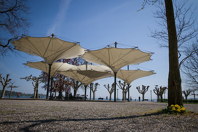 Konstanz, Stadtgarten, Park, Schirme