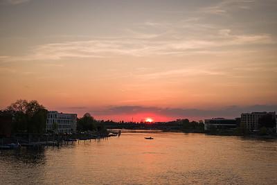 Sonnenuntergang in Konstanz