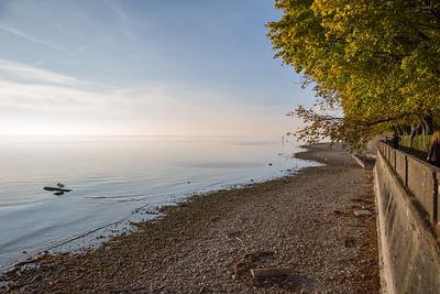Bodensee im Herbst, Lindau, Schwaben, Bayern, Deutschland