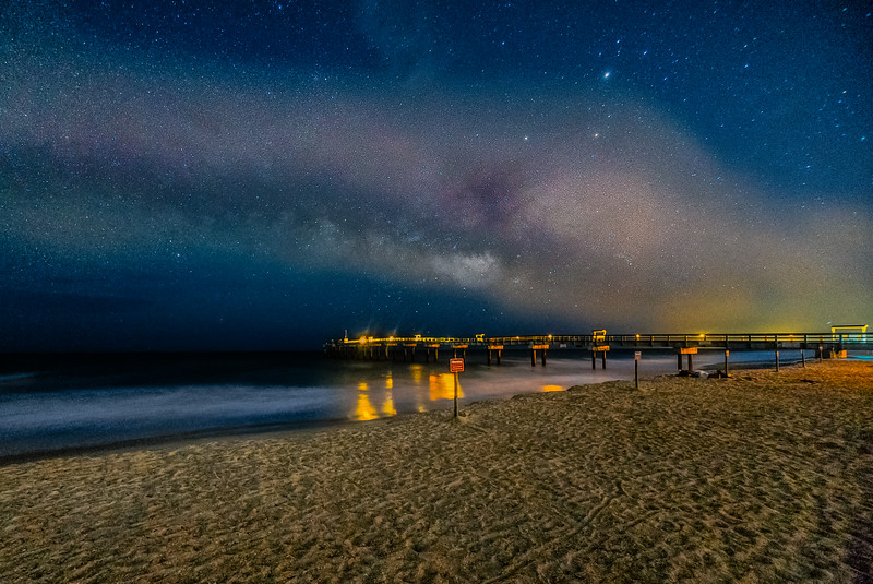 St. Augustine Pier and Milky Way