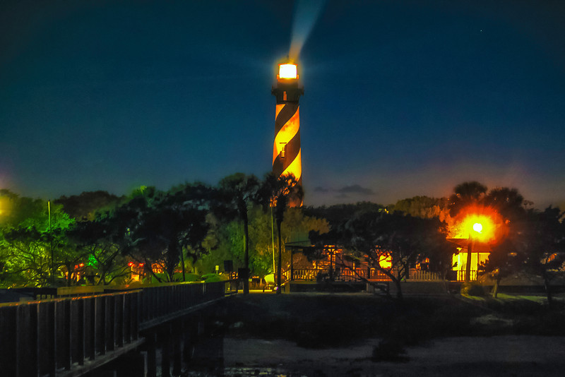 St. Augustine Lighthouse at Night