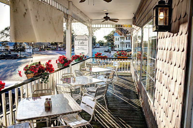 Veranda view Riverside Cafe St. Mary's Ga.