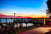 Sunset at the dock fused