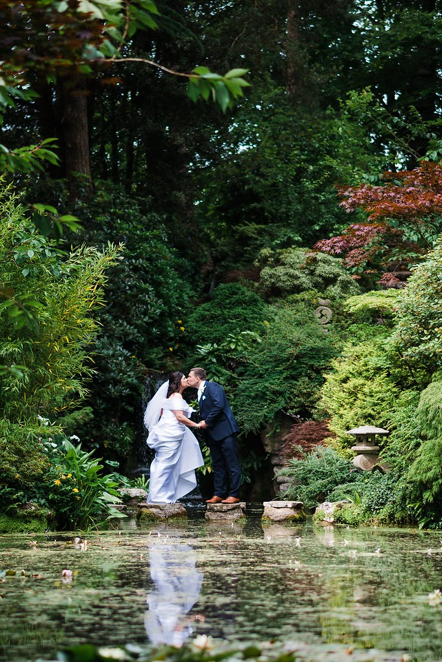 Wedding Portrait Photography in the gardens at The Italian Villa