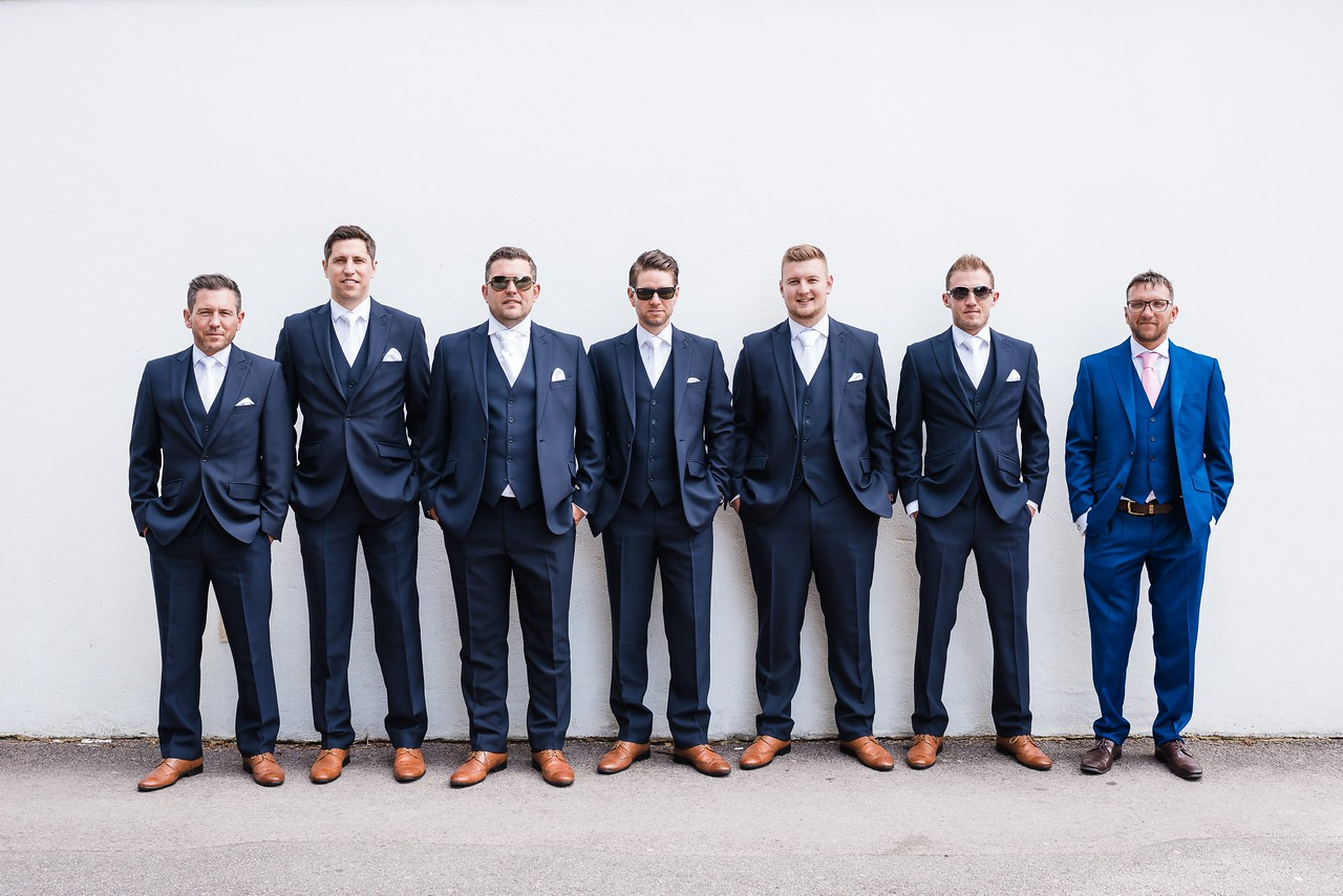 Groomsmen Portrait in Poole