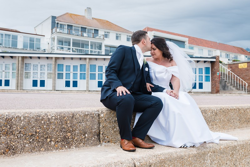 Seafront Couple Portraits.  Bournemouth Seafront Wedding Photography