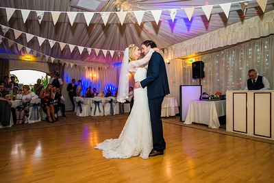 First dance at Shropshire Wedding Venue