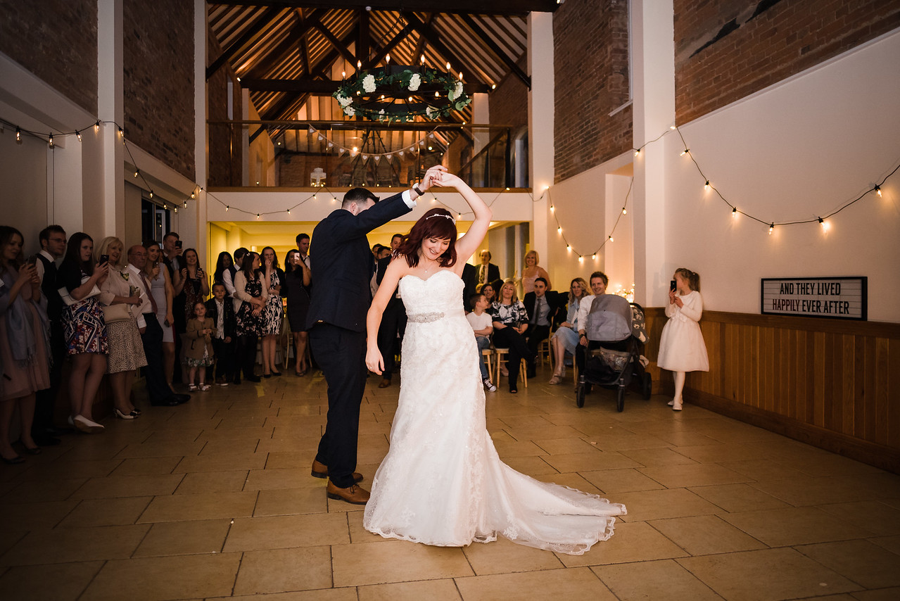 First Dance at Delbury Hall and Coach House Shropshire Wedding Venue
