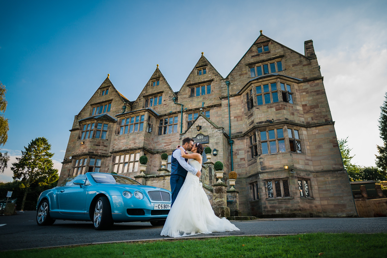 Weston Hall Bride and Groom Portraits