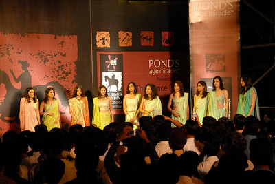 Ladies on the ramp at The Times of India Kala Ghoda Arts Festival 3rd to 11th Feb 2007.