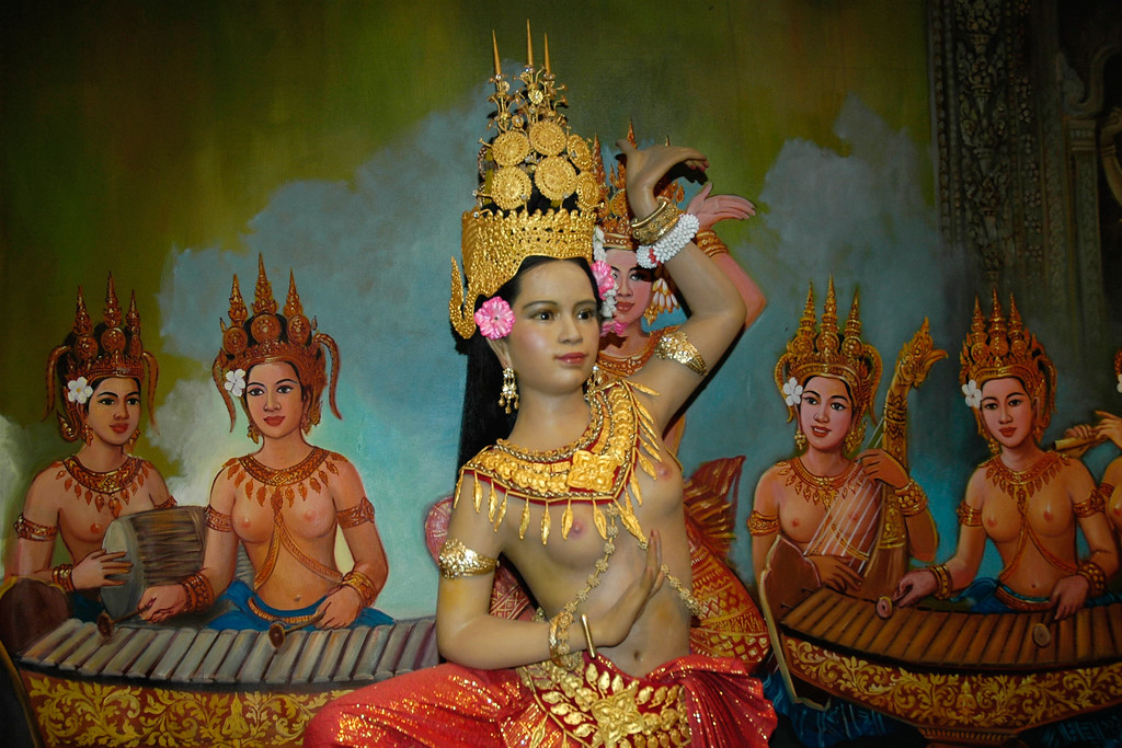 Cambodian traditional dance in Siem Reap, Cambodia.