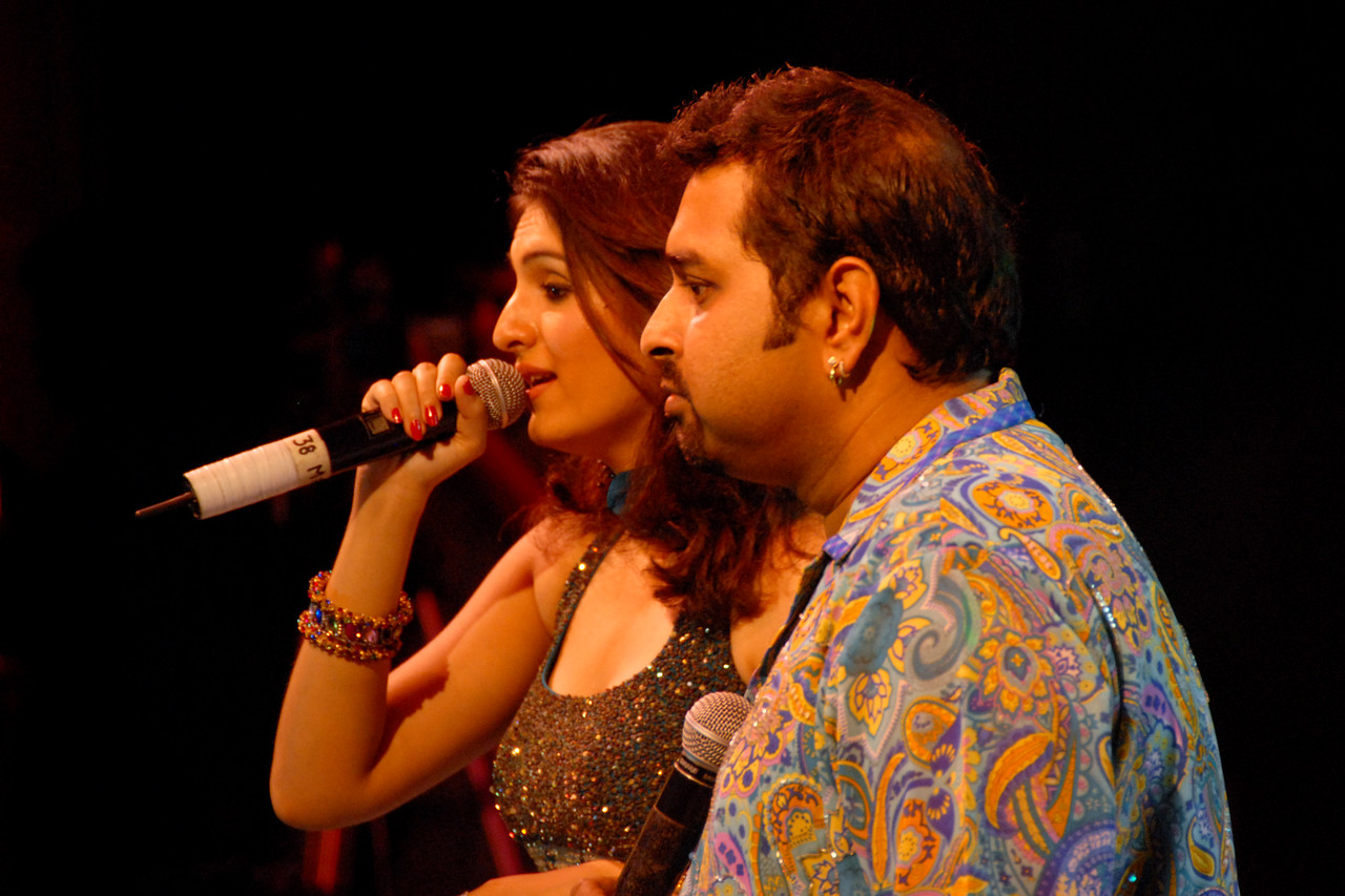 Shankar Mahadevan at the Rajasthan Diwas in Jaipur. Shankar Mahadevan is an Indian singer and music composer. He is a part of the Shankar Ehsaan Loy trio team that provides music to Bollywood films. He learned Indian Classical Music and Carnatic music in his childhood and started playing Veena at the age of five.<br /> <br /> Music. dance and cultural performances at Rajasthan Diwas. Every year in the month of March, Rajasthan celebrates its foundation day. Rajasthan Diwas is the day of the unification of erstwhile princely states and the state of Rajasthan. Organized by the Rajasthan Tourism Department, the festival features traditional and rural sports like kho-kho, camel cart races and elephant polo. 'Run for Rajasthan' is the highlight of the Rajashtan Diwas in which 32 torches are lit and brought to Jaipur by runners. As part of the festivities, local bazaars of Jaipur remain open late into the night and it offer interesting local textiles and handicrafts.