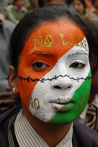 Winning face painting students of Tarun Niketan Public School, Faridabad at the Suraj Kund Mela 2008 held in Haryana (outskirts of Delhi), North India. The Suraj Kund Mela is an annual fair held near Delhi. Folk dances, handicrafts and a lot of fun.