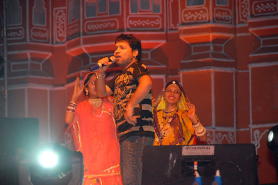 Kailash Kher weaving his magic onstage with his music and moves at Rajasthan Diwas in Jaipur.  Every year in the month of March, Rajasthan celebrates its foundation day. Rajasthan Diwas is the day of the unification of erstwhile princely states and the state of Rajasthan. Organized by the Rajasthan Tourism Department, the festival features traditional and rural sports like kho-kho, camel cart races and elephant polo. 'Run for Rajasthan' is the highlight of the Rajashtan Diwas in which 32 torches are lit and brought to Jaipur by runners. As part of the festivities, local bazaars of Jaipur remain open late into the night and it offer interesting local textiles and handicrafts.