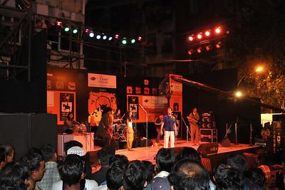 Music and dance at the Kala Ghoda Arts Festival 2008 held annually in February at Kala Ghoda, Mumbai, MH, India.