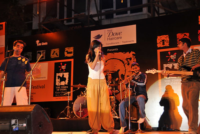 Music Festival at the Kala Ghoda Arts Festival 2008 held annually in February at Kala Ghoda, Mumbai, MH, India.