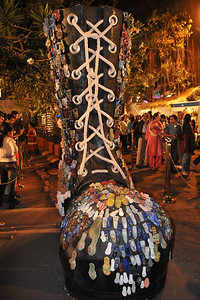 Big shoe - Art at the Kala Ghoda Arts Festival 2008 held annually in February at Kala Ghoda, Mumbai, MH, India.