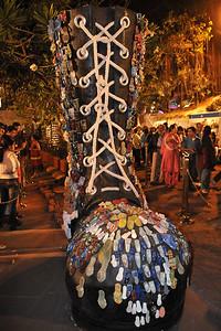 Big shoe - Art at the Kala Ghoda Arts Festival 2008 held annually in February at Kala Ghoda, Mumbai, MH, India.