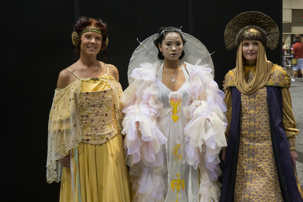Padme costumes at Star Wars Celebration Orlando