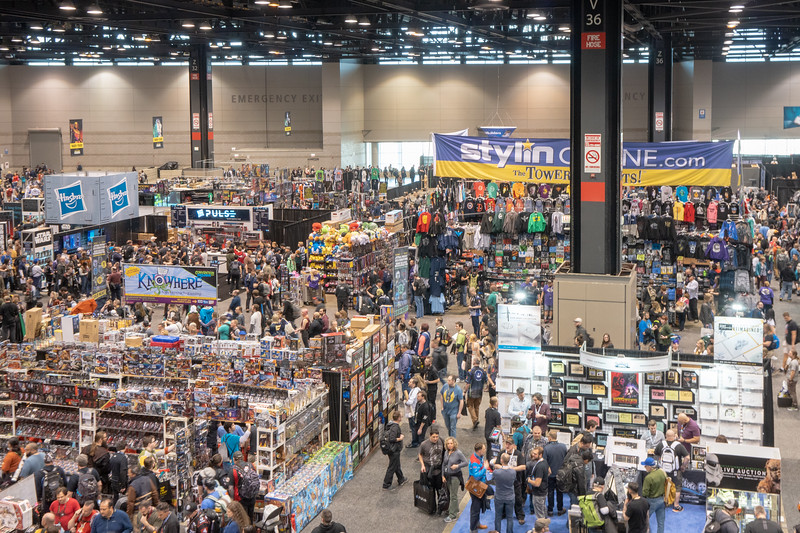 Looking down at the Exhibit Hall at McCormick Place