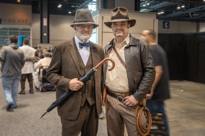 Dad and Indiana paid a visit to Star Wars Celebration 2019 in Chicago