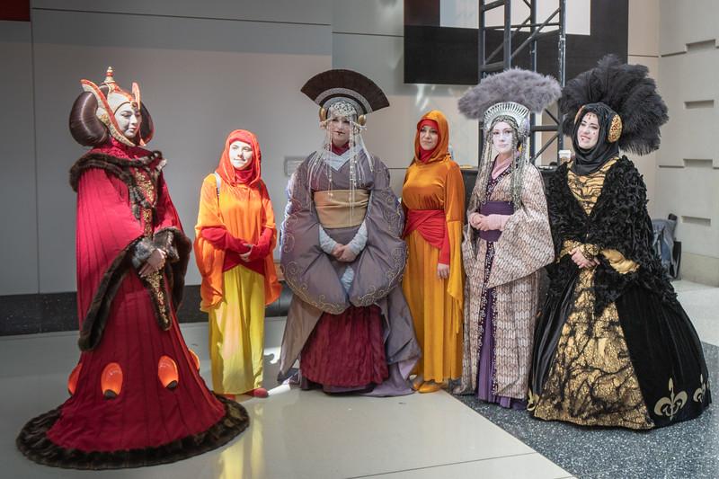 Padme Amidala cosplayers at Star Wars Celebration 2019