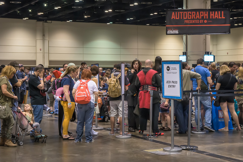 The line in the Autograph Hall, Star Wars Celebration 2017 in Orlando, FL