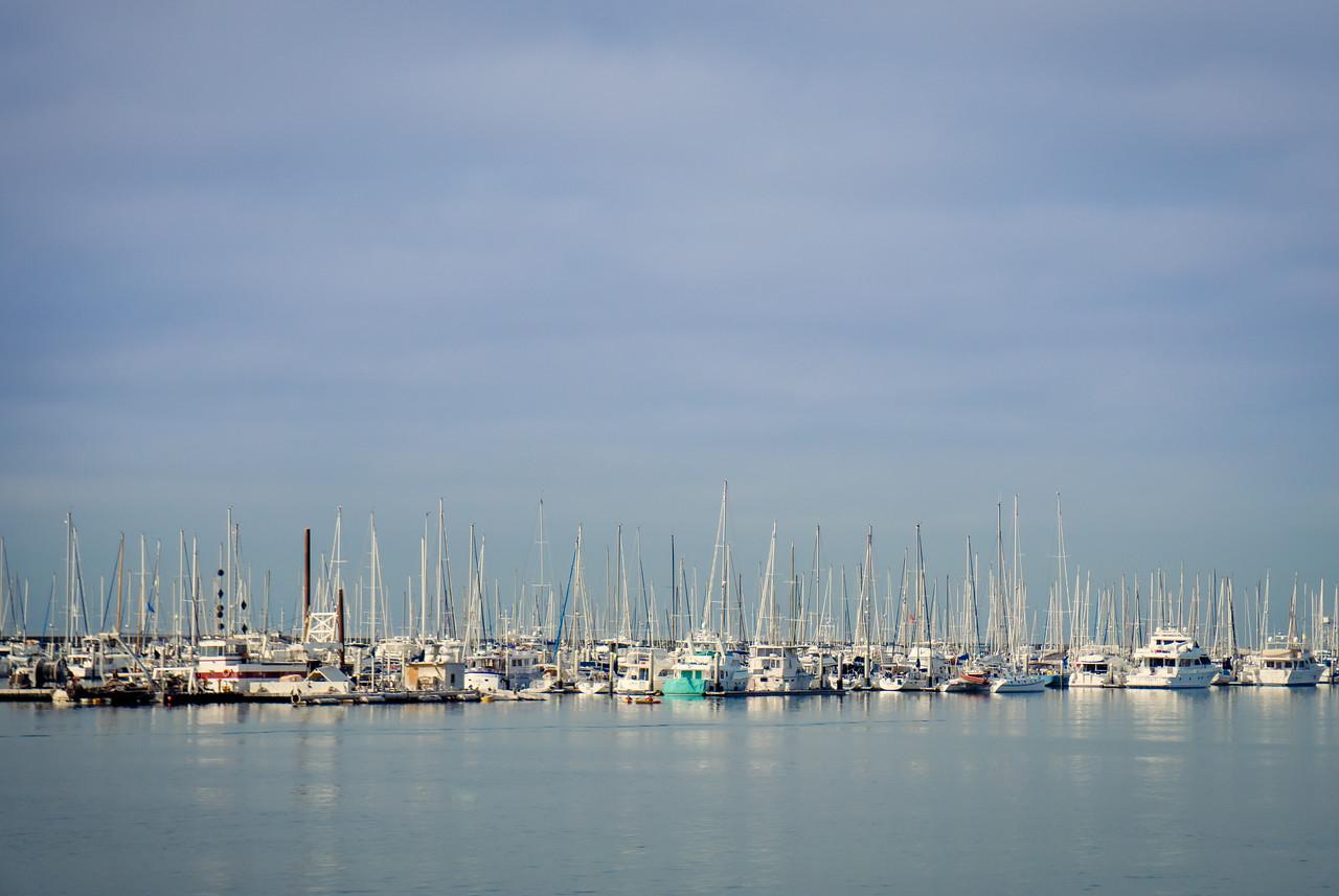 Boats in Santa Barbara Harbor