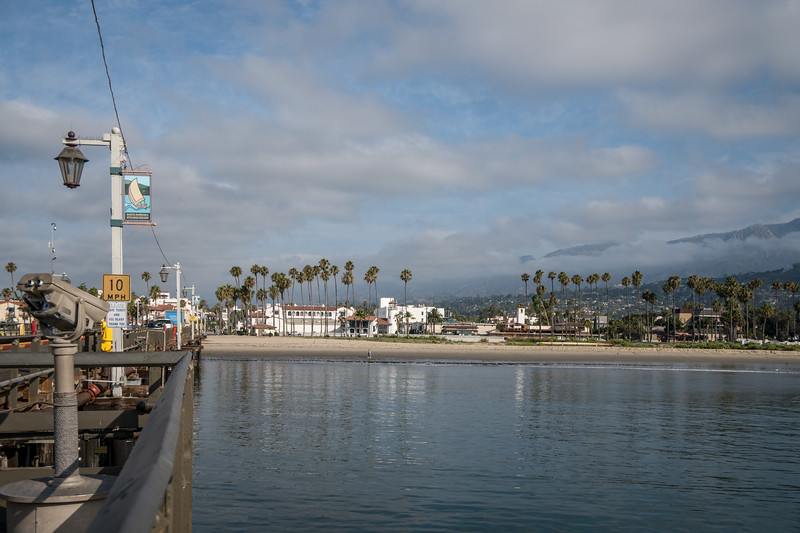 A view from Stearns Wharf toward Santa Barbara