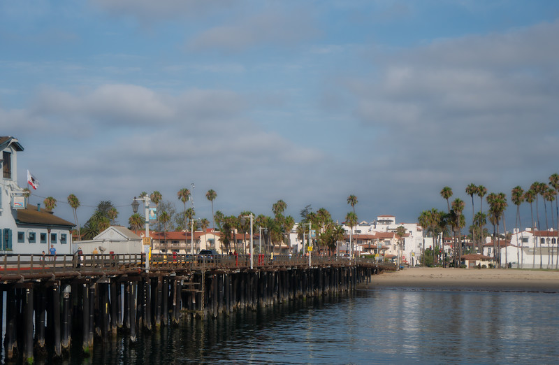 Stearns Wharf, looking toward Santa Barbara