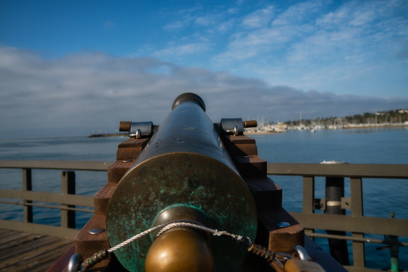 Replica of six-pound gun