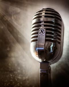 Smoky Vintage Microphone
