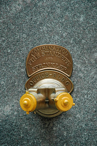 Fire sprinkler. Street life in NY near the Rockefeller Center. New York - the big Apple. USA. Aug 2004