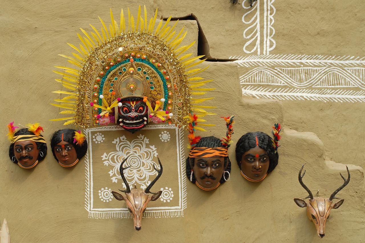 Masks at Suraj Kund Mela 2008 held in Haryana (outskirts of Delhi), North India. The Suraj Kund Mela is an annual fair held near Delhi. Folk dances, handicrafts and a lot of fun.