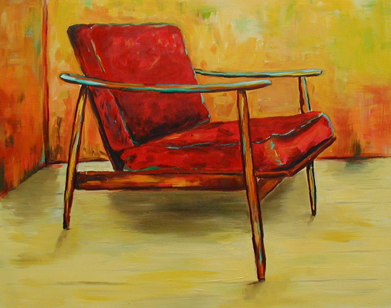 Red Chair  24x30 Acrylic on Canvas 2006 SOLD