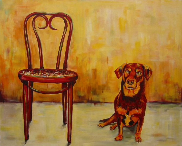 Sit          Acrylic on Canvas 24x30 2006  SOLD