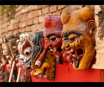Masks in Kathmandu, Nepal