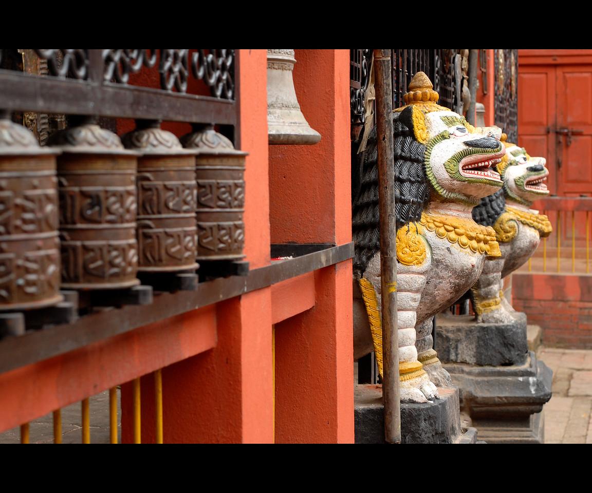 Temple entrance in Kathmandu, Nepal