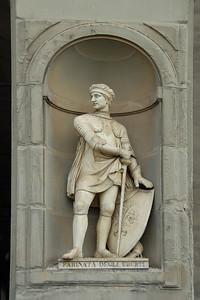 Farinata Degli Uberti statue in Florence, Italy.