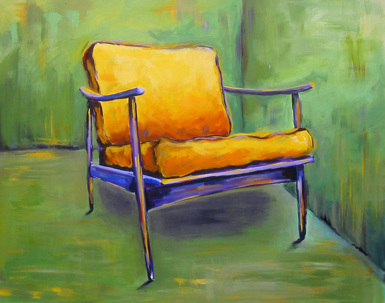 Yellow Chair 24x30 Acrylic on Canvas SOLD
