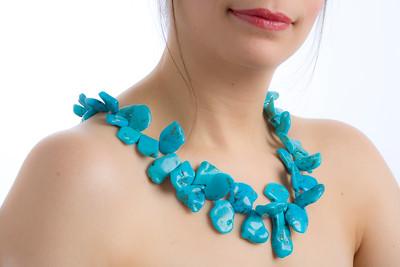 Jewelery Designs by Zachary Bloom, Fabiana Bloom, model.