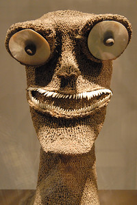 African art in the museum in Paris, France