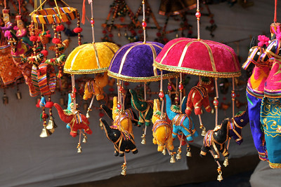 Hand made items constructed and sold at Suraj Kund Mela 2008, Haryana, North India. The Suraj Kund Mela is an annual fair held near Delhi. Folk dances, handicrafts and a lot of fun.