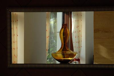 Reflection of a vase
