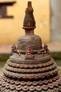 Religious symbols all over Kathmandu, Nepal