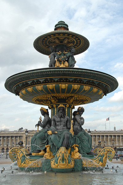 Water fountain in Paris, France