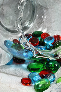 IMG#4967 Fluted Glass and Glass Beads